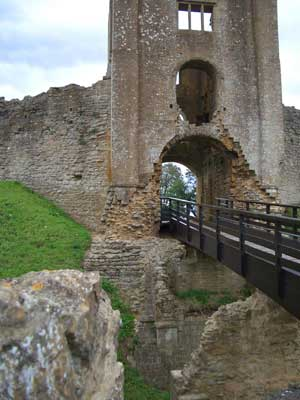 The gatehouse at Sherborne Old Castle