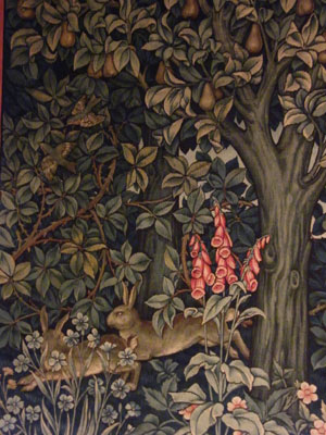 Detail of tapestry by John Henry Dearle
