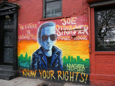 Tribute to Joe Strummer in East Village