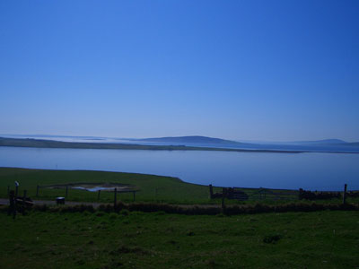 The view from Rousay to the Orkney mainland