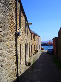 View to the harbour in Stromness