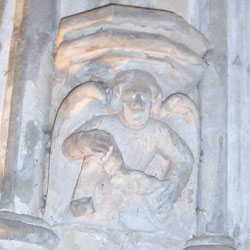 Carving of an angel at Rosslyn Chapel