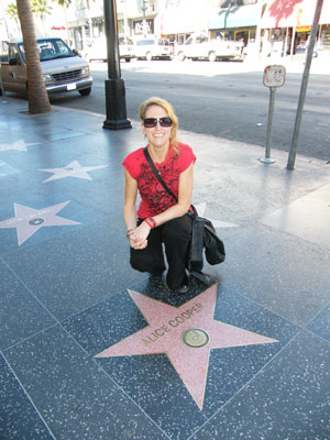 Me with Alice Cooper's star on the Walk of Fame