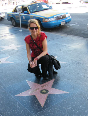 Me with Johnny Depp's star on the Walk of Fame
