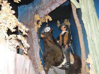 The truly terrible waxwork of John Wayne in the Hollywood Wax Museum