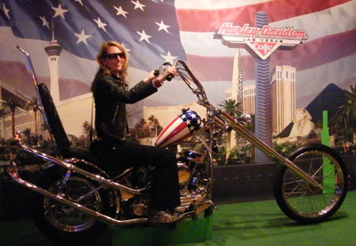 I get to ride a Harley Davidson - sort of
