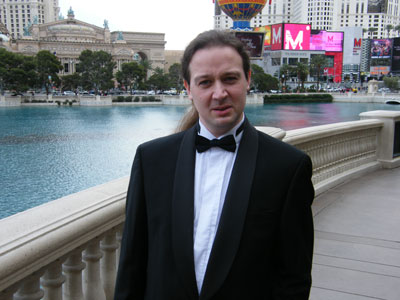 WTF? Ian outside the Bellagio in his tux