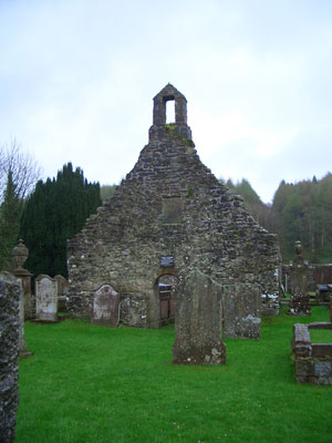 Outside the ruined chapel at Anwoth