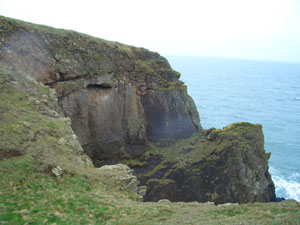 The cliff at Burrow Head