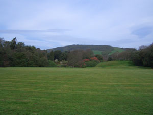 The lawns at Castle Kennedy Gardens