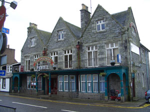 The Ellangowan Hotel in Creetown - aka the Green Man