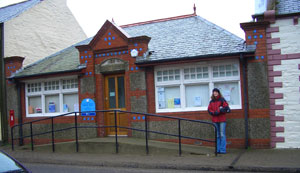 The library at Whithorn, where Sergeant Howie reads up about May Day