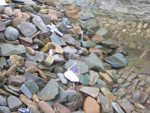 Stones on the Pilgrimage Cairn