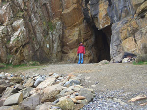Oh look, Rowan Morrison. Oh no, it's me, outside St Ninian's Cave